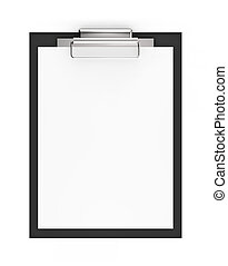 Black clipboard with copy space isolated on white