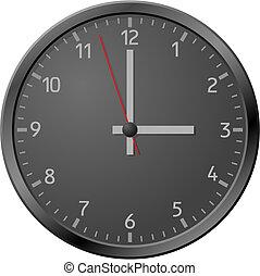black , clock.