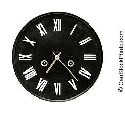 black clock dial