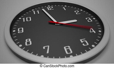 Black clock dial time lapse. 4K footage. Awaiting concept clip