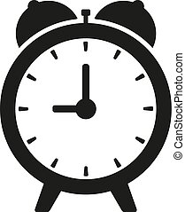 Black clock on white illustration isolated vector