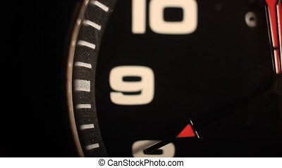 black clock with numbers