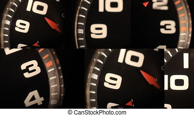 black clocks with numbers
