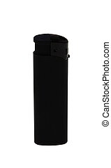 Black closeup cigarette lighter