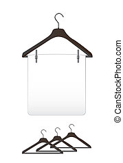 Clothes hangers - black Clothes hangers over white ...