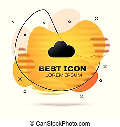 Black Cloud icon isolated on white background. Fluid color banner. Vector Illustration