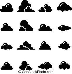 Black Cloud icon set