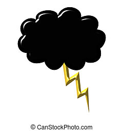 Black cloud with thunder