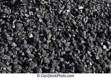 black coal background from the Ostrava mine