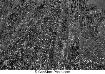 black coal background layers deep in the ground