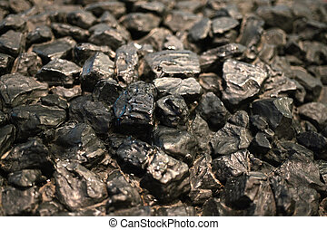 Black coal fossil fuel abstract background and texture.