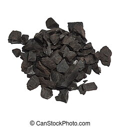 black coal isolated on white background