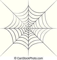 black cobweb isolated on a white background
