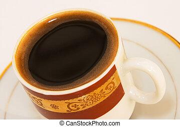 Black coffee close-u