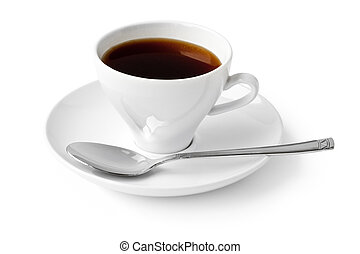 black coffee cup isolated