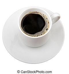 Black coffee - Cup of coffee isolated over white background
