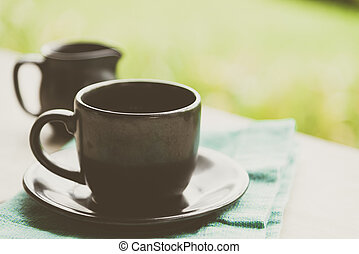 Black coffee cup