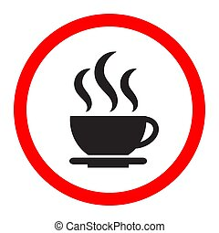 Black coffee icon on a white background.