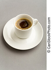 Black coffee - Image of porcelain cup with strong black ...