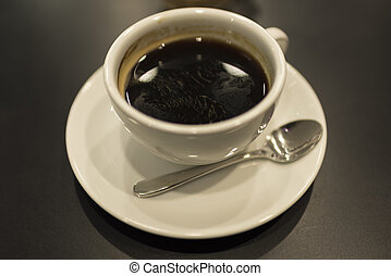 Black coffee with sugar
