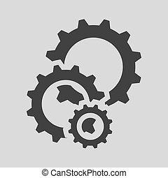 black cogs gears