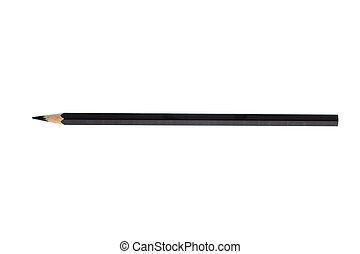 Black color pencil on white background