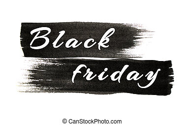 Black color strokes isolated on white background.