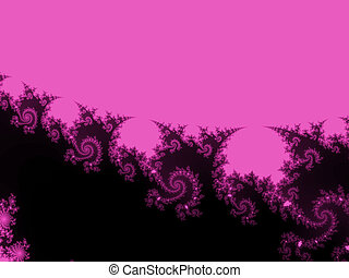 Black colored abstract fractal background.