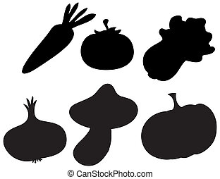 Black colored vegetables