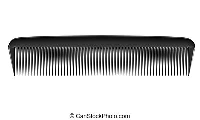 Black comb isolated on white background
