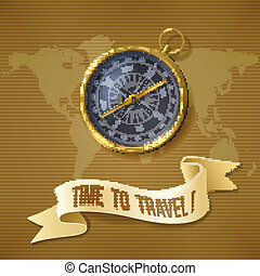 Black compass background