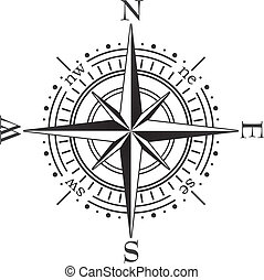 black compass - vector black compass