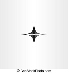 black compass icon vector sign