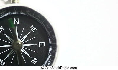 Black Compass on White Background