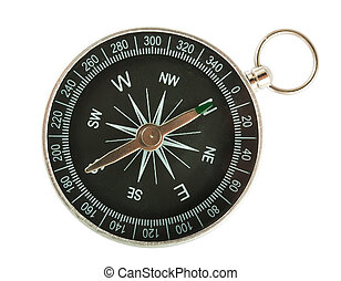 Black compass top view - Black Compass Closeup Isolated on...