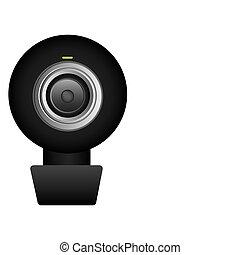 black computer camera icon