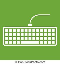 Black computer keyboard icon green
