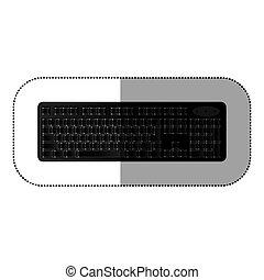 black computer keyboard icon