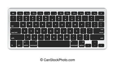 Black computer keyboard on white