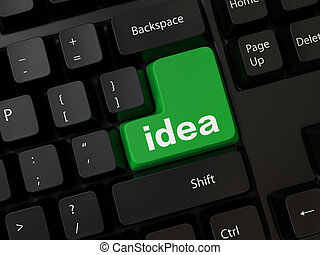 idea - Black computer Keyboard with a word idea