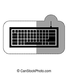 black , computer toetsenbord, pictogram