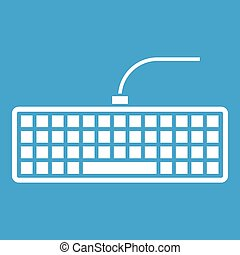 black , computer toetsenbord, pictogram, witte