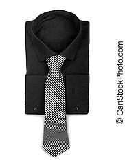 black , concept, tie., hemd, zakelijk
