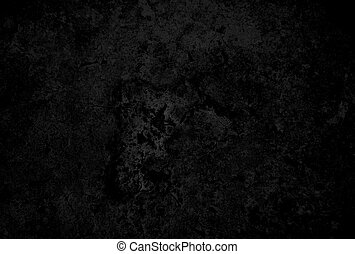 Black concrete wall textured for background.