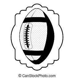 black contour emblem with football ball
