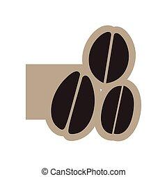 black contour grains coffee icon