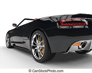 Black convertible sports car
