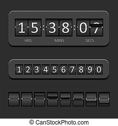 Black Countdown Board and timer Vector Illustration