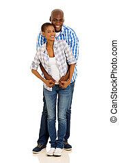 black couple full length portrait - full length portrait of...