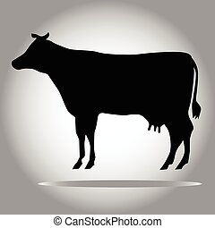 Black cow silhouette